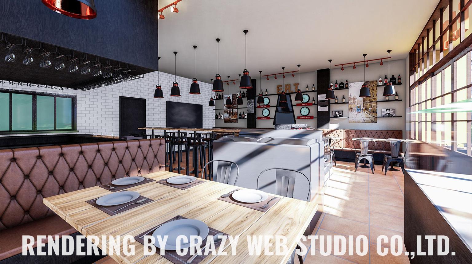 3D Rendering Restaurant Phuket Company Crazy Web Studio2