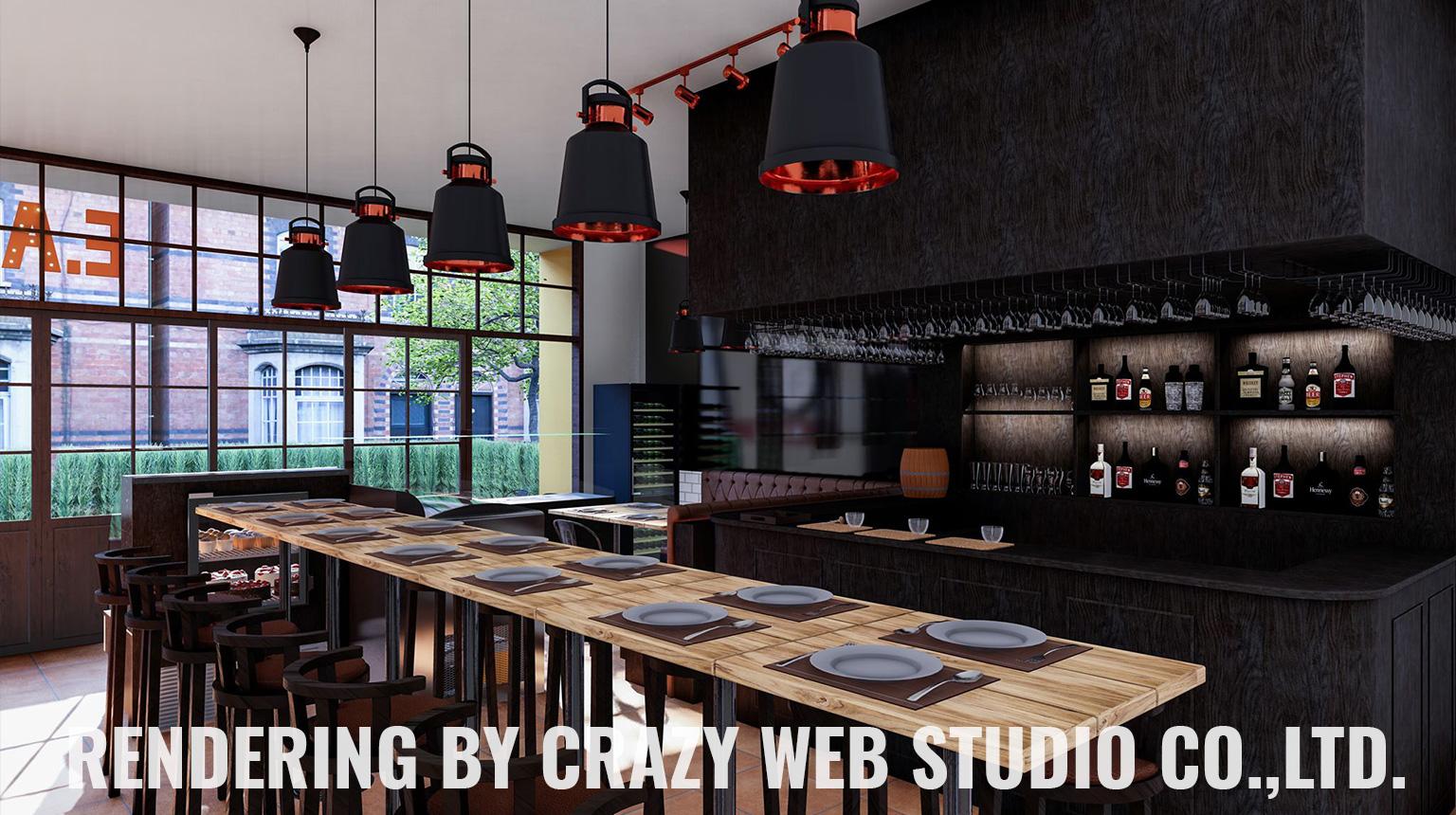 3D Rendering Restaurant Phuket Company Crazy Web Studio3
