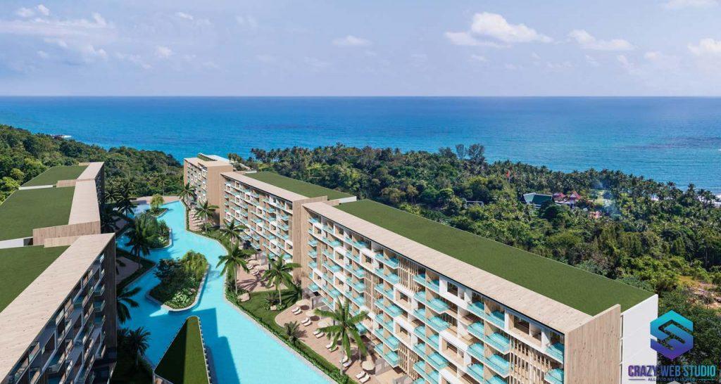 Condominium Project 3d Crazy Web Studio Rendering Paradise Beach 4