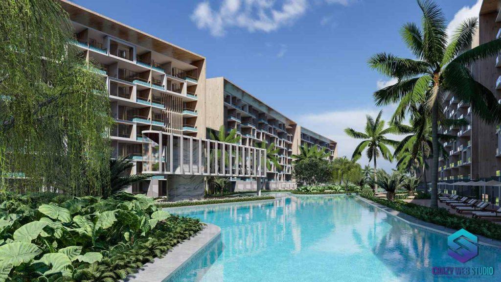 Condominium Project 3d Crazy Web Studio Rendering Paradise Beach 6