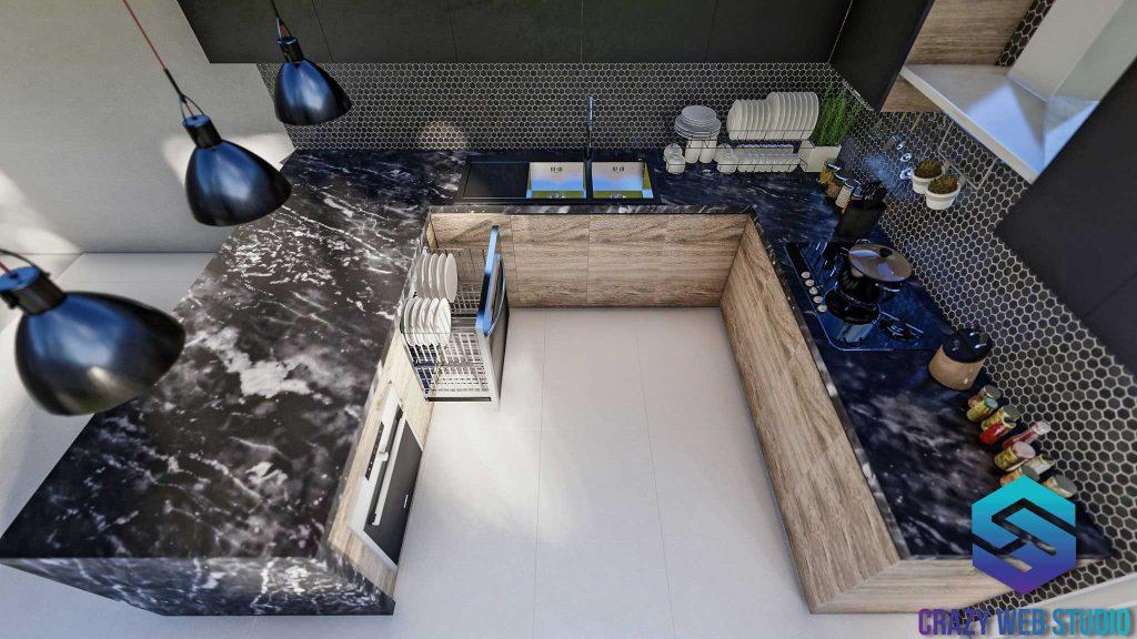 Interior Deisng Kitchen PHUKET 3D DESIGN CRAZY WEB STUDIO Thailand 02